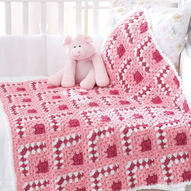 Bernat Puzzle Blocks Baby Blanket