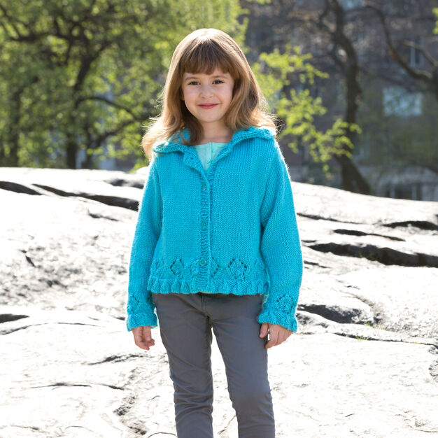 Red Heart Lacy Border Sweater, 4 yrs