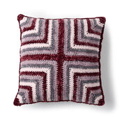 Bernat Mitered Squares Crochet Cushion