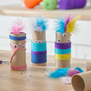 Red Heart Paper Tube Monsters