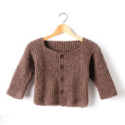 Caron Textured Kids Cardigan, 2 yrs
