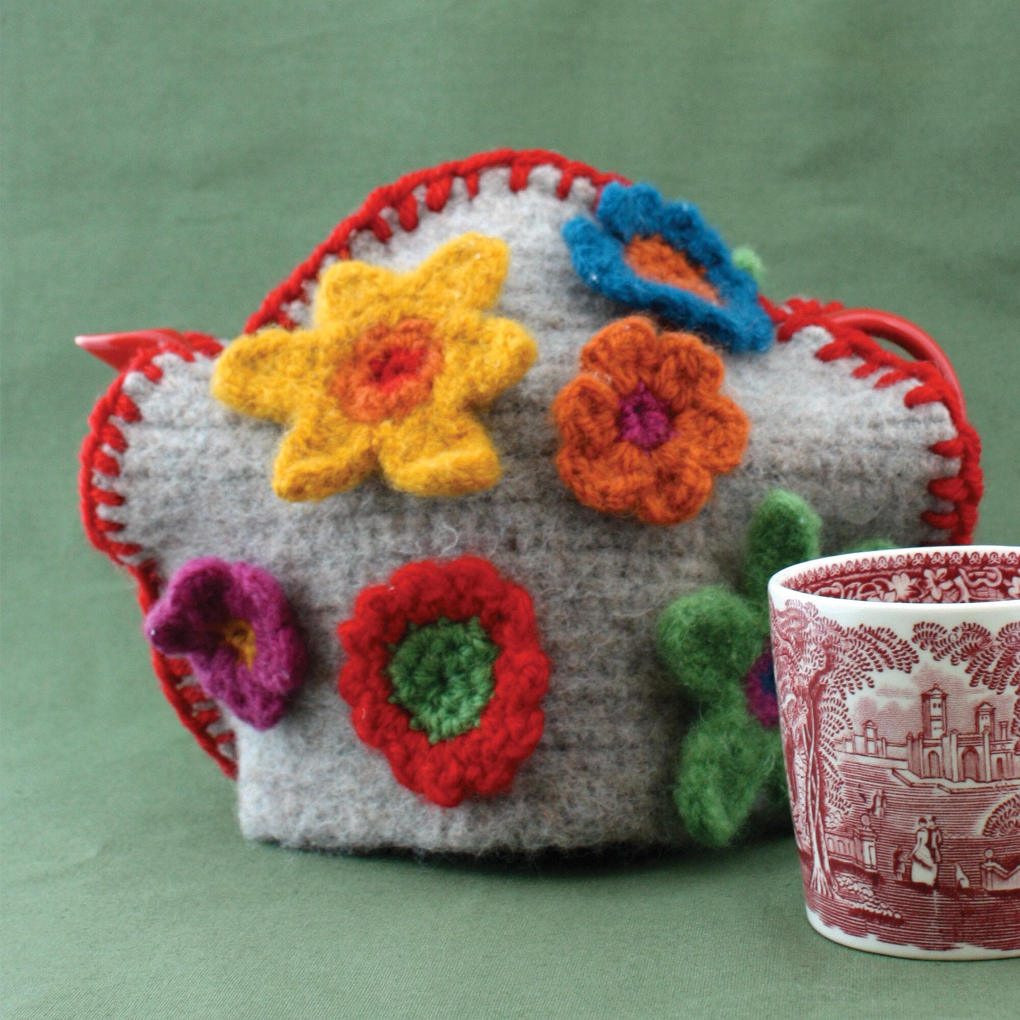 Patons Felt And Flower Tea Cozy Yarnspirations