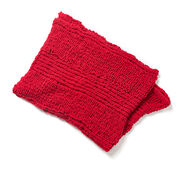Red Heart Finger Knit Snuggly Blanket
