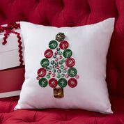 Coats & Clark Oh Tannenbaum Button Pillow