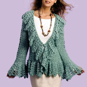 Caron Soft Sage Circle Jacket, S