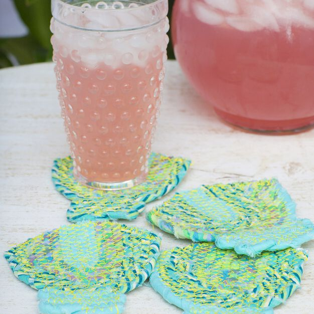 Coats & Clark Sea Shell Coasters in color