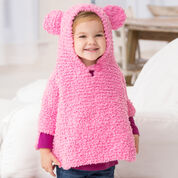 Red Heart Playful Hooded Poncho, 6 mos