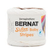 Bernat Softee Baby Stripes Yarn, Sand Pebbles Stripe