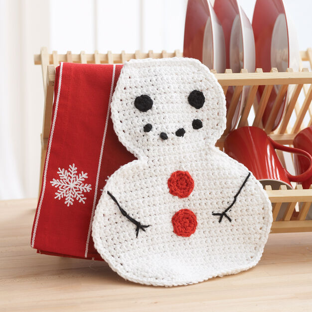 Lily Sugar'n Cream Snowman Dishcloth in color