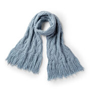 Patons Staggered Cable Knit Scarf