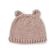 Bernat Cutie Cub Crochet Hat, 6-12 mos.