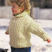 Patons Cables and Hearts Child's Pullover, 4 yrs
