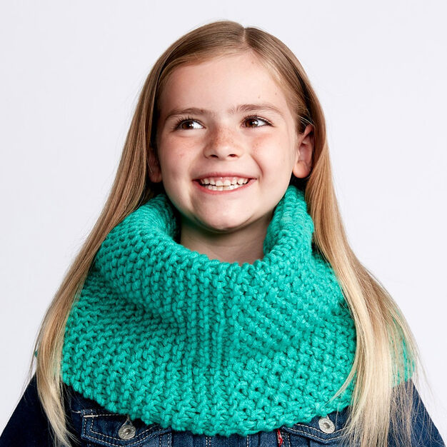 Bernat Dual Texture Knit Cowl, Child