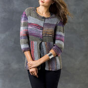 Red Heart Magical Stripes Cardi, S