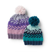Go to Product: Caron Easy Knit Fair Isle Baby & Kids Hat, Morning Blues - 6/12 mos in color