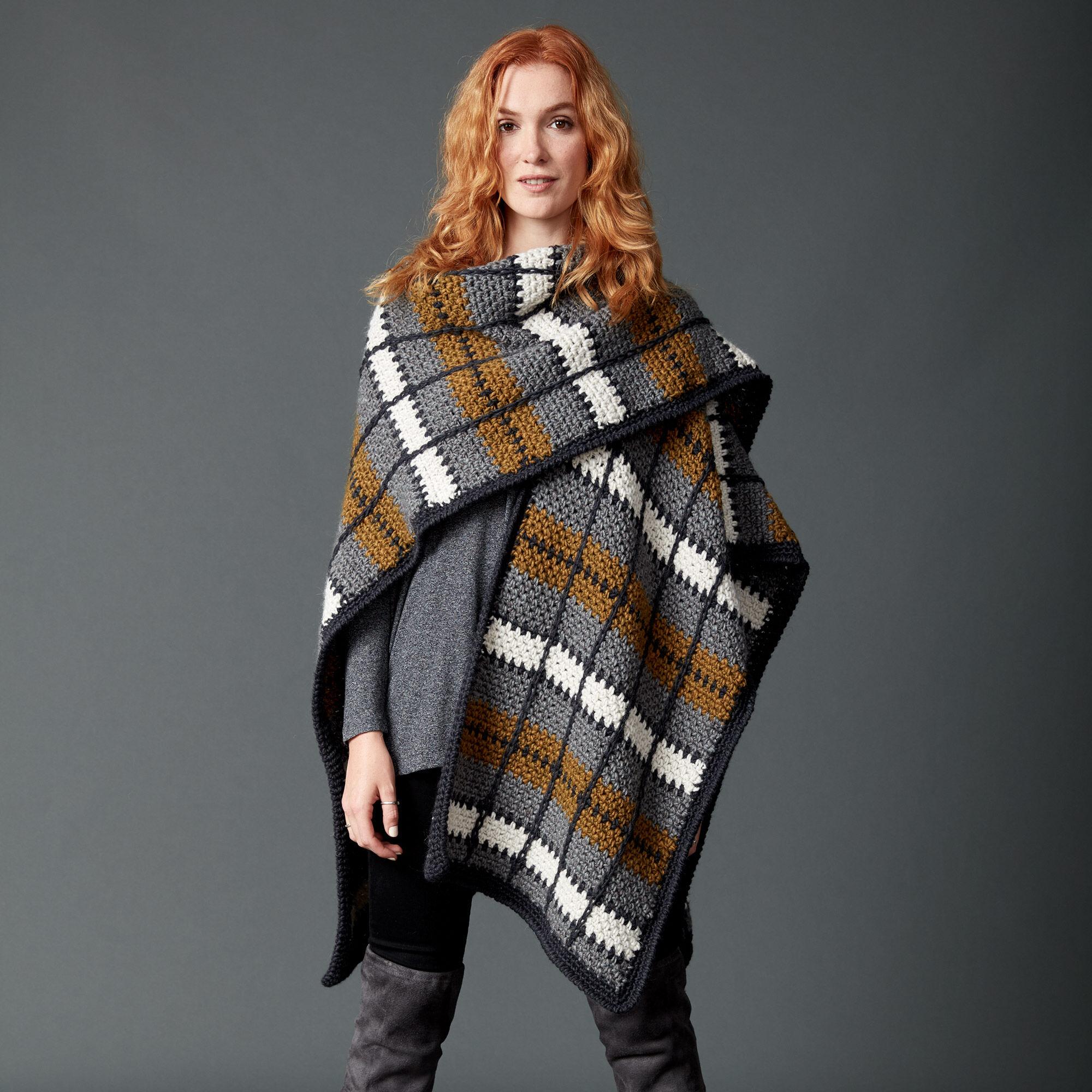 Patons Crochet Blanket Ruana   Yarnspirations