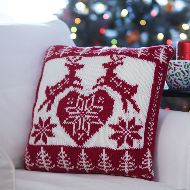 Bernat Nordic Holiday Pillow