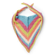Caron Triangular Knit Shawl