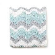 Bernat Crochet Chevron Baby Blanket