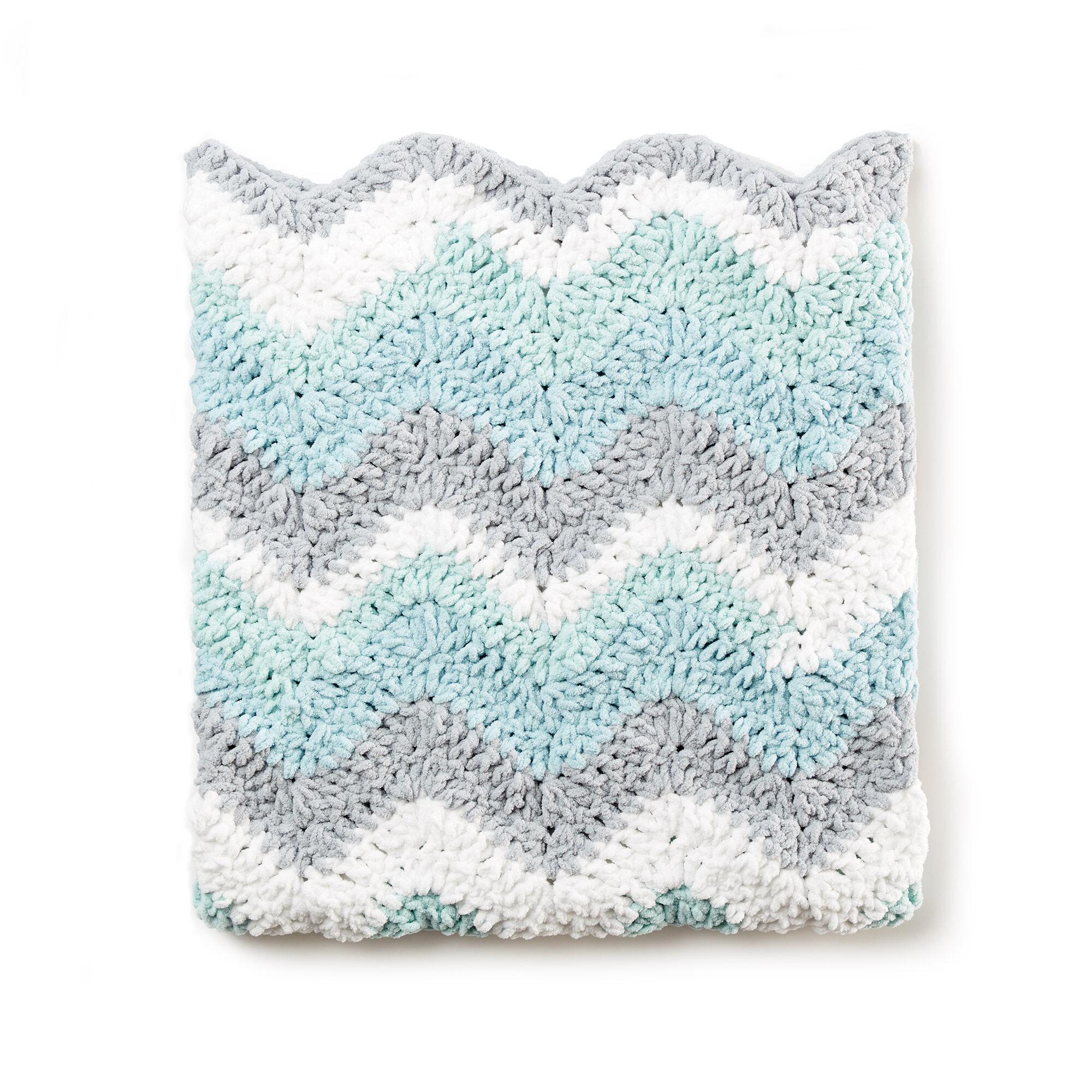 Bernat Crochet Chevron Baby Blanket Pattern | Yarnspirations