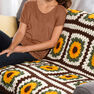 Red Heart Crochet Sunflower Throw