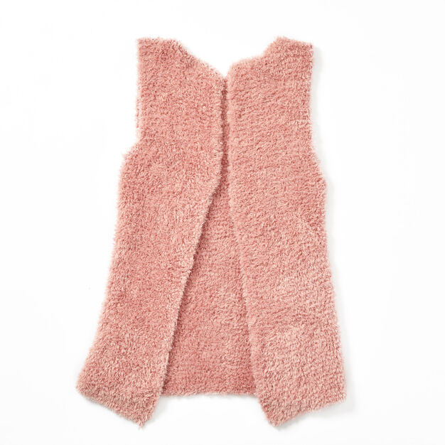Red Heart Cozy Style Vest, S