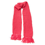 Red Heart Textured Fringe Scarf