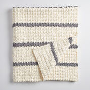 Bernat Pin Stripe Crochet Blanket