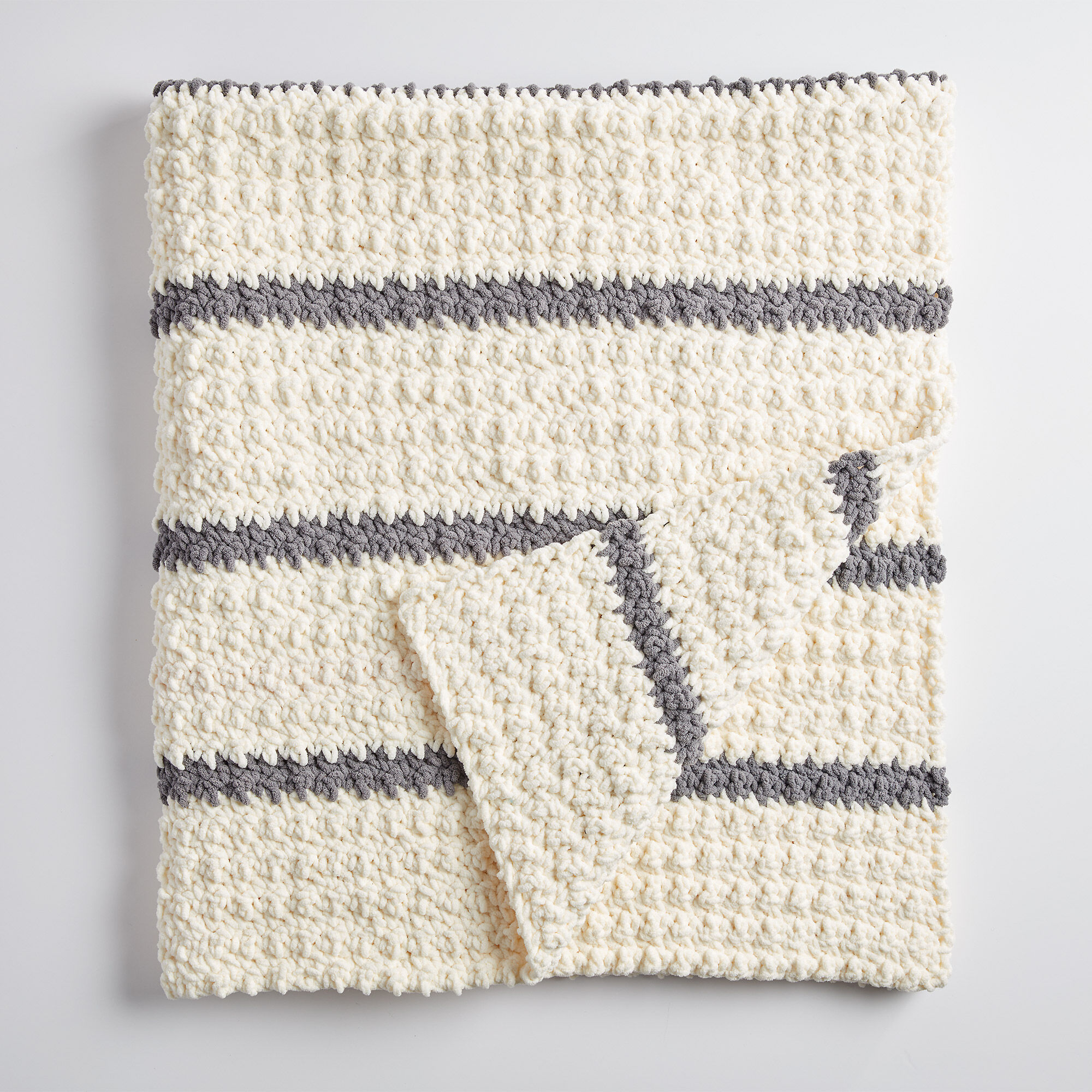 Bernat Pin Stripe Crochet Blanket | Yarnspirations