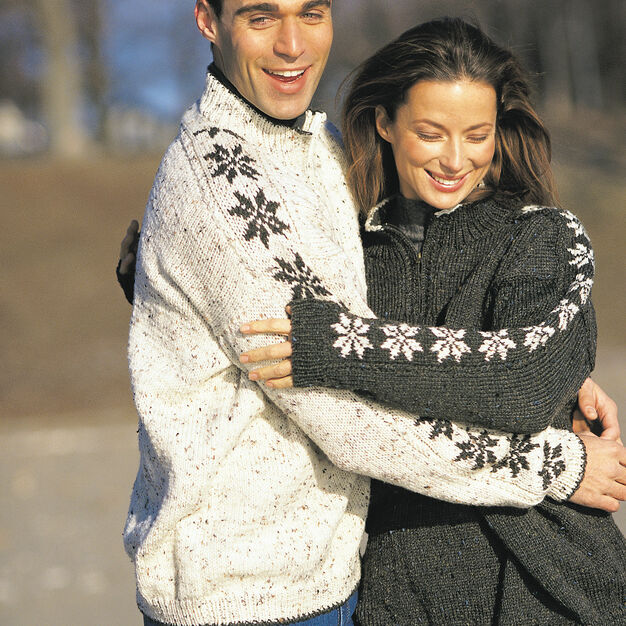 Patons Saddle Sleeve Snowflakes, S