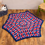 Red Heart Patriotic Hexagon Baby Blanket in color  Thumbnail Main Image 1}