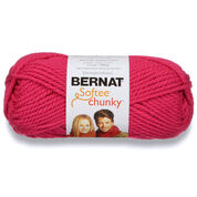 Go to Product: Bernat Softee Chunky Yarn (100g/3.5oz) in color Hot Pink