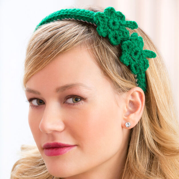 Red Heart Shamrock Headband
