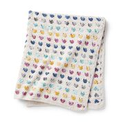 Go to Product: Bernat Heart Stripe Crochet Baby Blanket, Version 1 in color