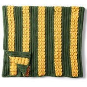 Caron School Colors Crochet Afghan, Version 1