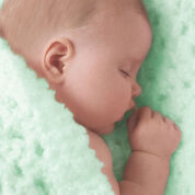 Red Heart Angel Baby Knit Blanket