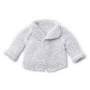 Bernat Knit Baby Cardigan, 6 mos