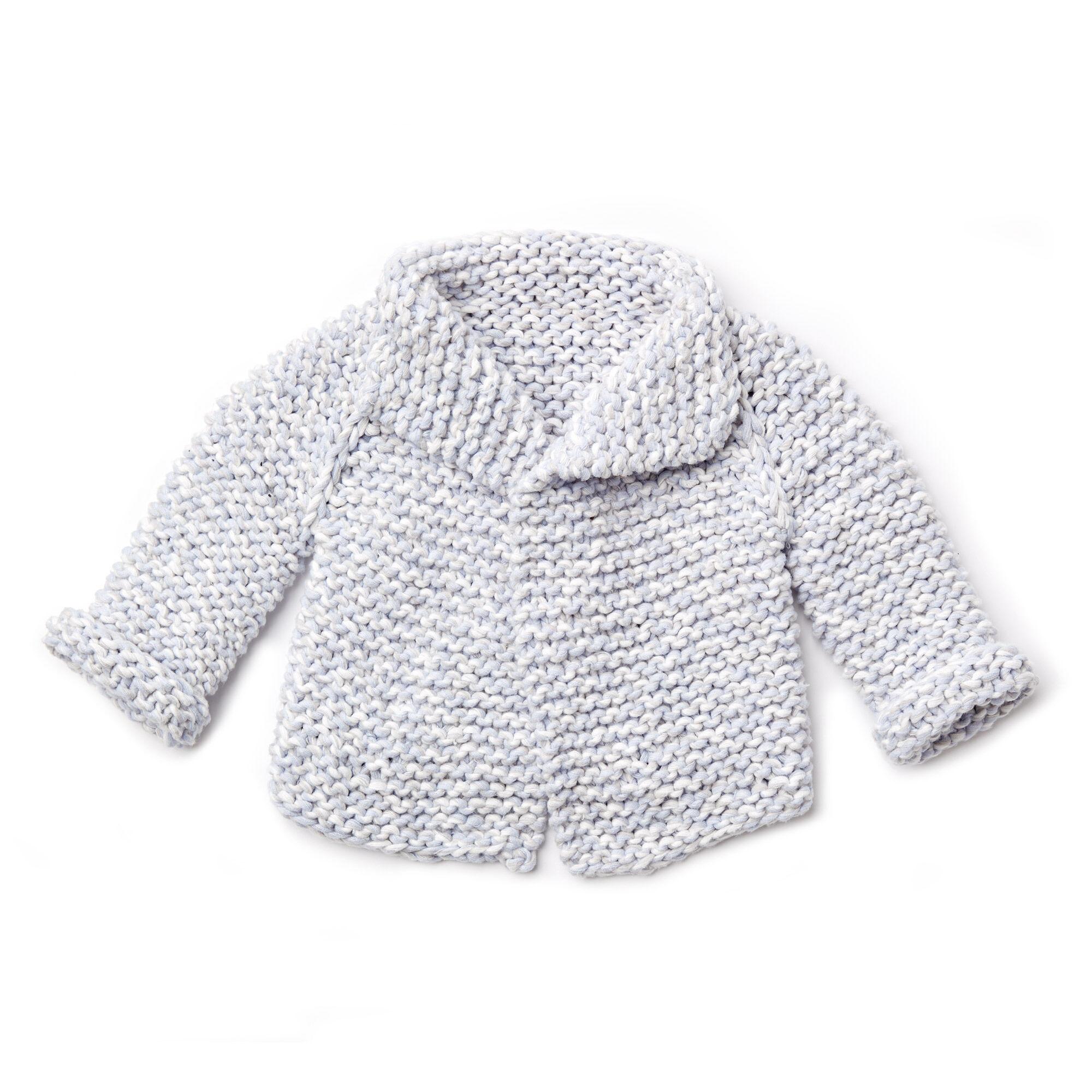 Bernat Knit Baby Cardigan Pattern Yarnspirations