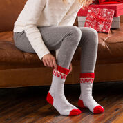 Go to Product: Red Heart Christmas Morning Slipper Socks, Women S in color