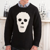 Red Heart Skull Sweater, S