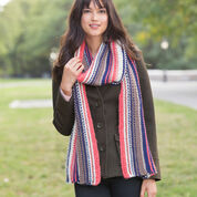 Red Heart Market Square Striped Scarf