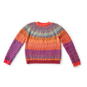 Bernat On Repeat Knit Pullover, XS/S