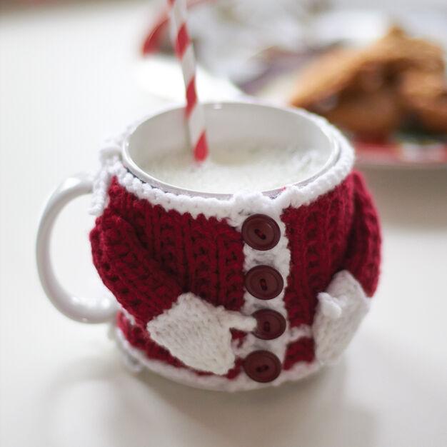Bernat Santas Mug Cozy Yarnspirations