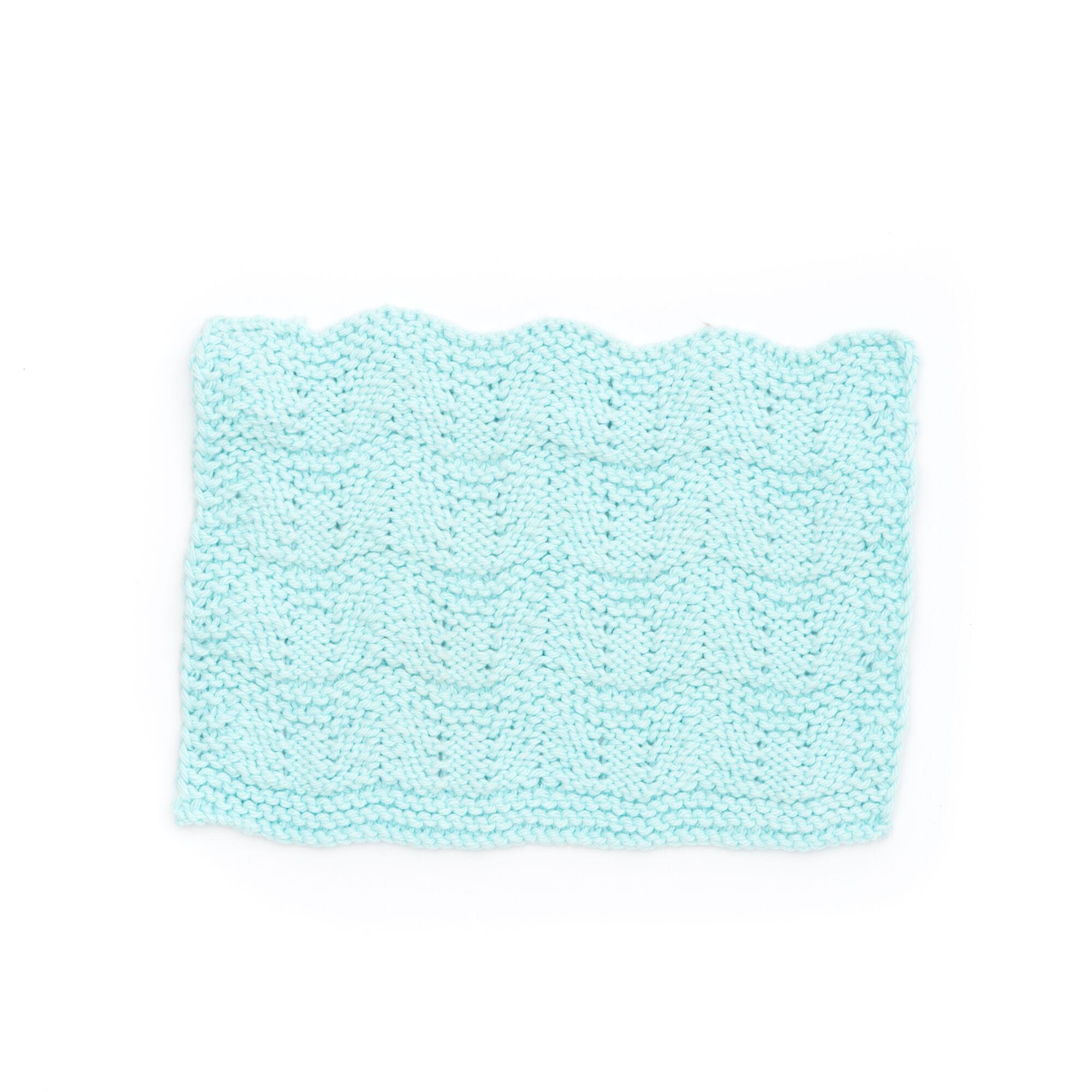 Lily Sugarn Cream Ripple Stitch Dishcloth Yarnspirations