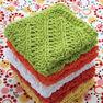 Lily Sugar'n Cream Diagonal Stitch Dishcloth, Yellow in color  Thumbnail Main Image 3}