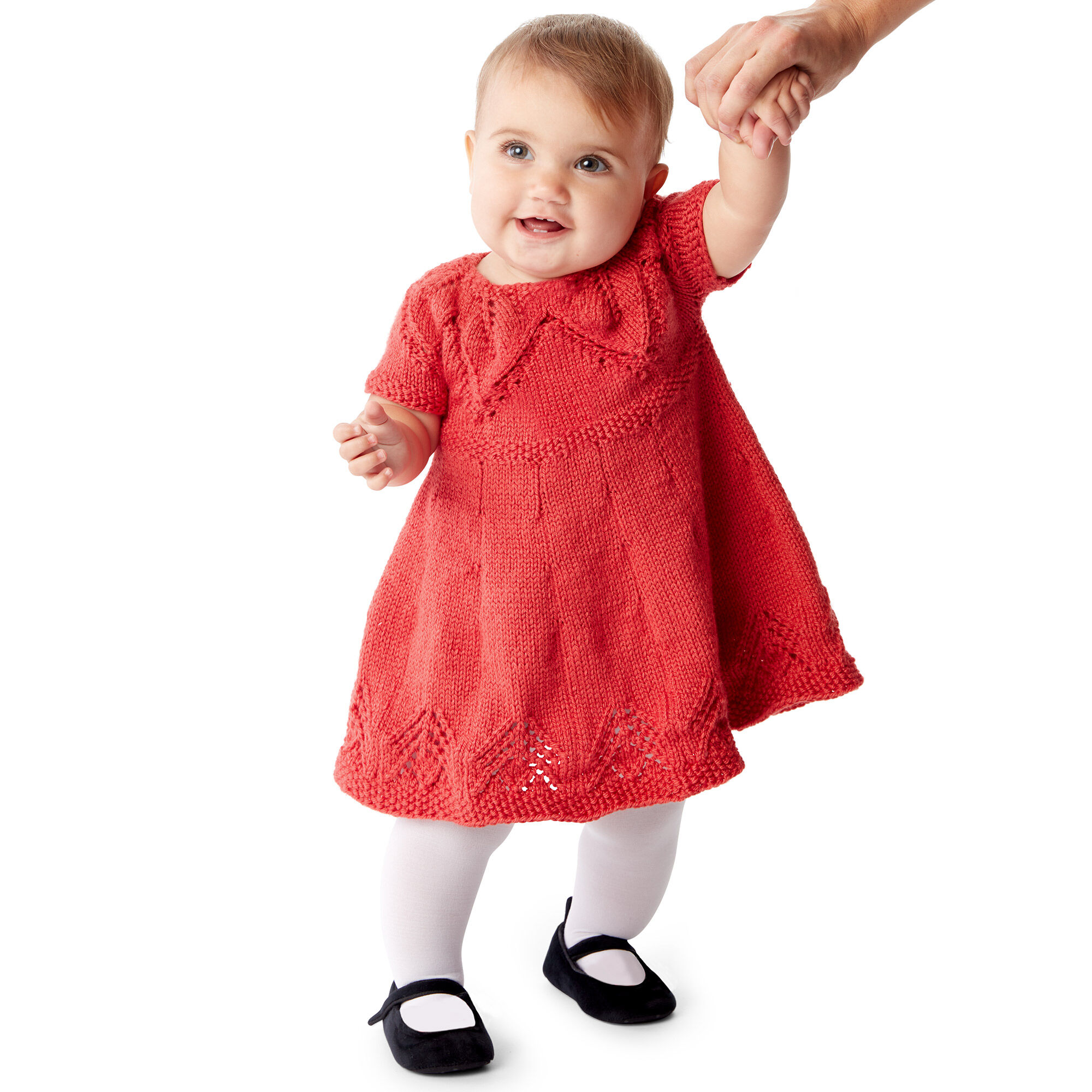 FAIRY LEAVES DRESS, 6 MOS, LITTLE RED WAGON - FREE Knitting Pattern