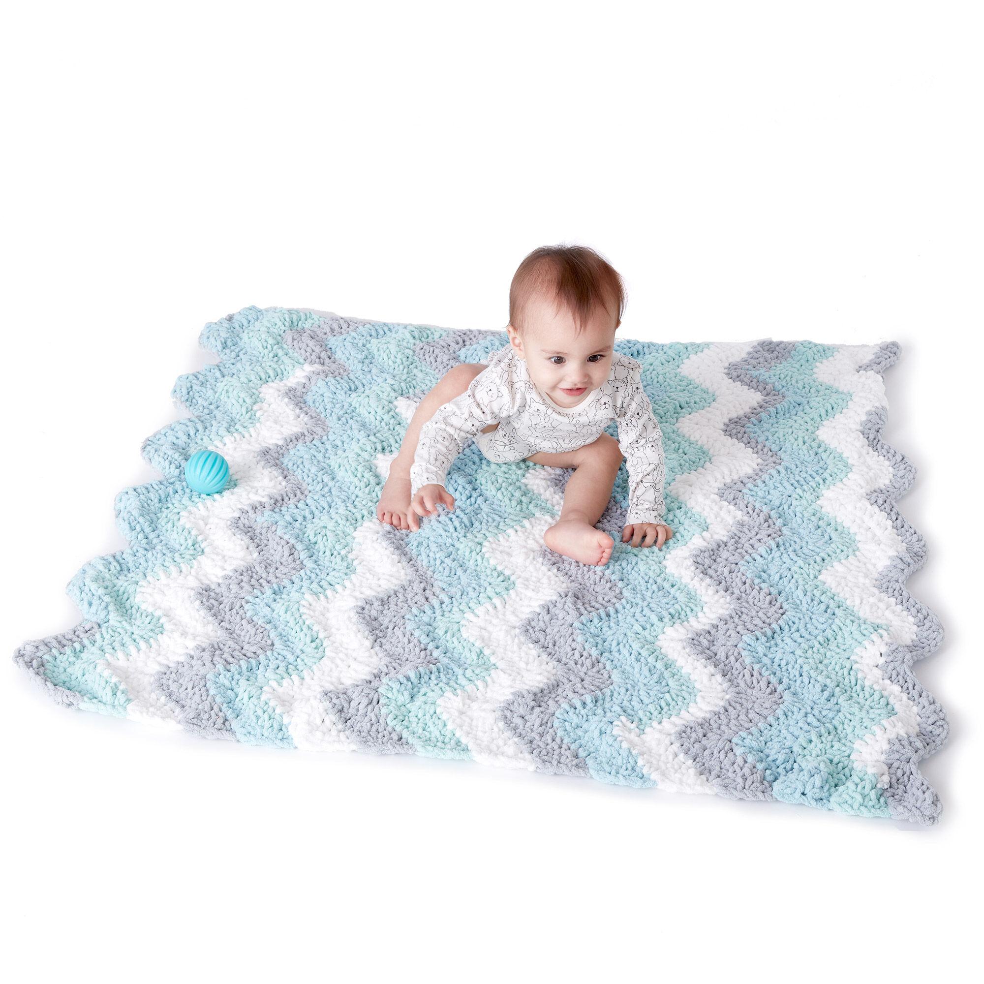 Bernat Crochet Chevron Baby Blanket Pattern Yarnspirations