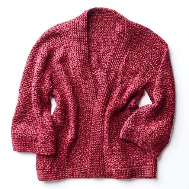 Patons Soft Drape Kimono Crochet Jacket Xss Yarnspirations