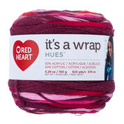 Go to Product: Red Heart It's A Wrap Hues Yarn in color Wine-Not