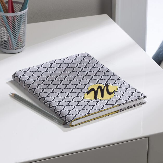 Coats & Clark Monogrammed Notebook Cover in color